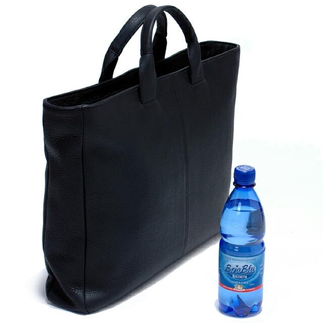 WITH/ウィズ:ブリーフトートバッグ(L):500mlのペットボトルとの比較と側面