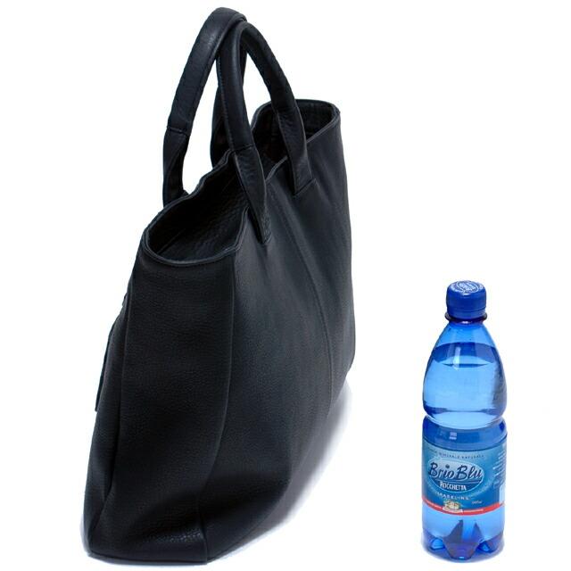 WITH/ウィズ:トートバッグ(M):500mlのペットボトルとの比較と側面