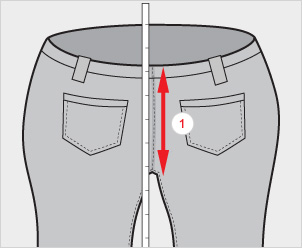後股上の測り方