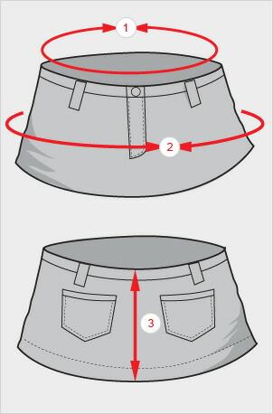 スカートの測り方