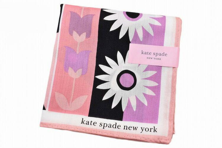 ケイト スペード ニューヨーク ハンカチ レディース 1枚 ブランド kate spade new york ピンク 系 ビッグ フラワー プリント 女性 婦人 ケート 【あす楽】