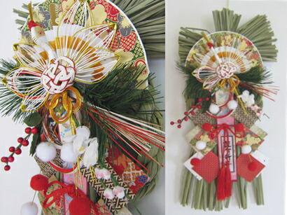 新春飾り鶴雲