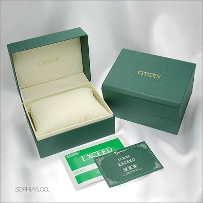 シチズン腕時計国内正規品付属品例:専用ボックス・メーカー保証書・取扱説明書