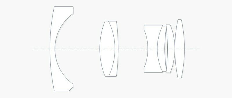 レンズ構成(5群7枚)
