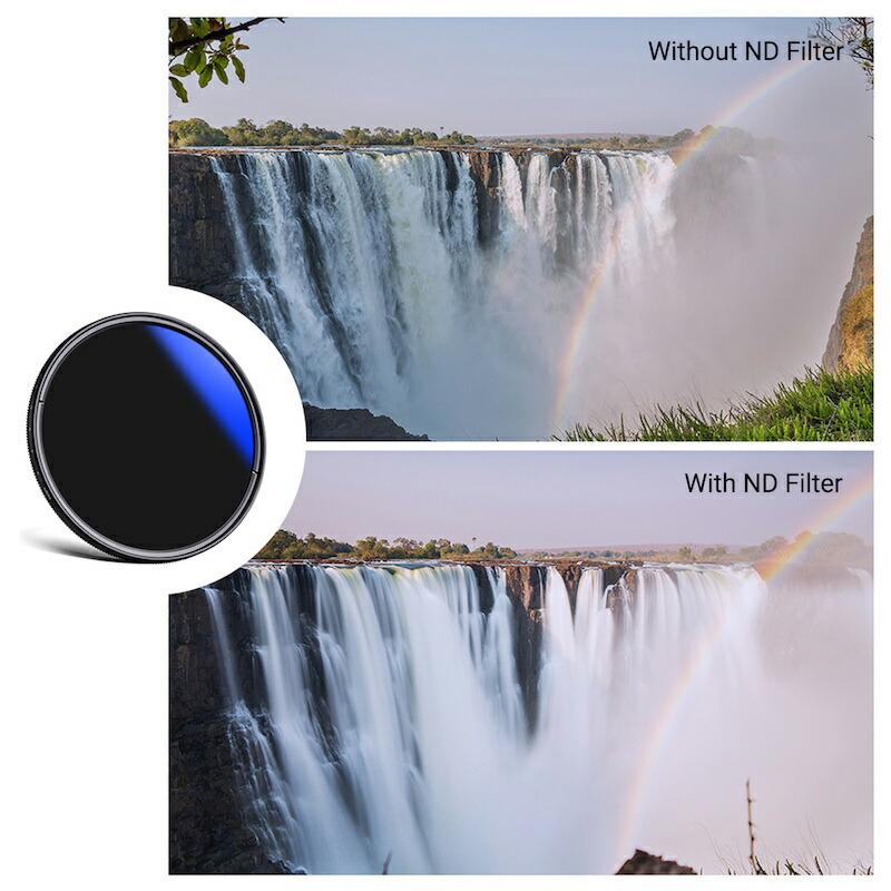 (上:フィルターなし / 下:フィルター装着) 光量を自在に変えることで多様な表現が可能