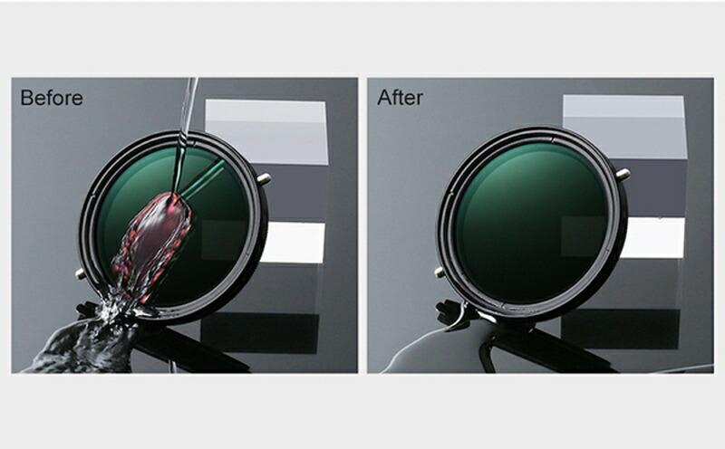 両面ともにマルチコーティング7層+MRC(マルチ・レジスタント・コーティング)加工。耐久性・防水性に優れています。