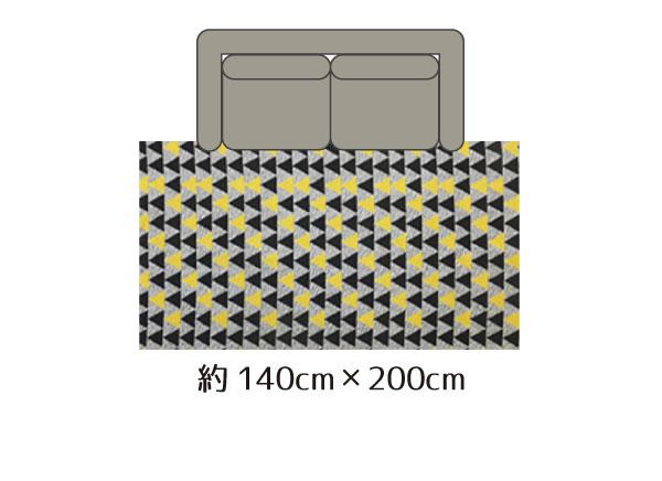 1.5畳サイズ140cm×200cm