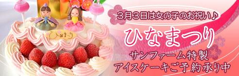 年に一度の女の子のお祝いにはお子様が大好きなアイスケーキをお取り寄せ!