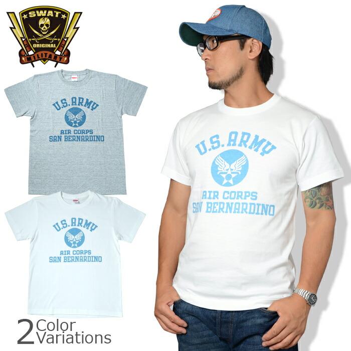 SWAT ORIGINAL(スワットオリジナル) U.S.ARMY AIR CORPS アメリカ陸軍航空隊 半袖 メンズ ライトウェイト Tシャツ