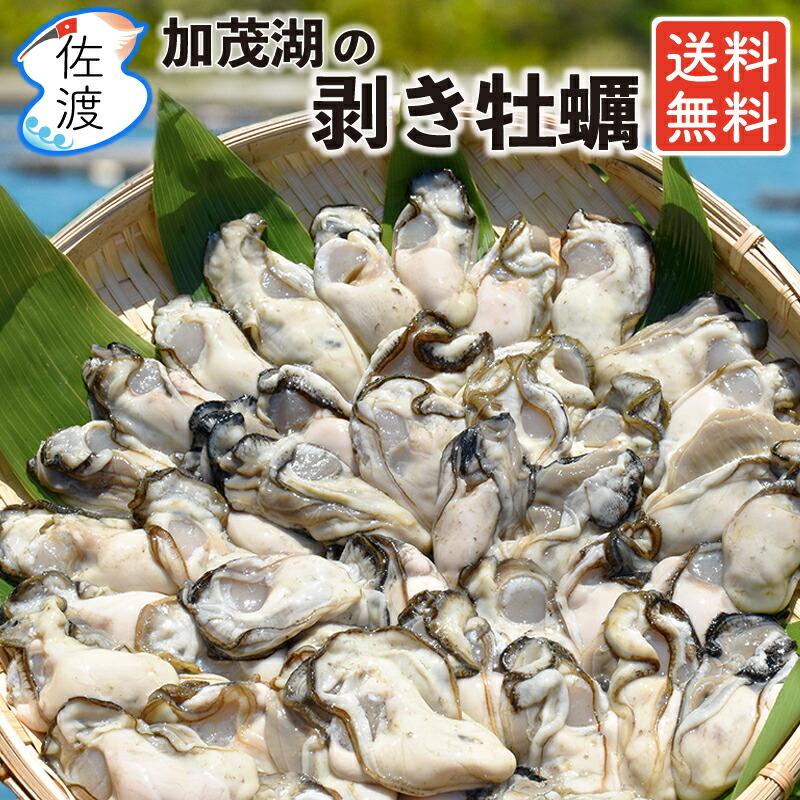 佐渡産 剥き牡蠣1kg 送料無料