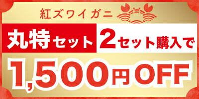 丸特2セット1500円OFF