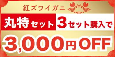 丸特3セット3000円OFF