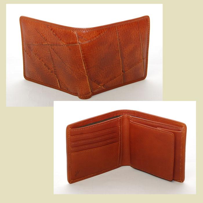 esperanto エスペラント アキャブレザー二つ折り財布