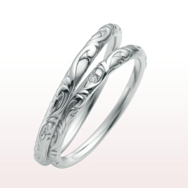 【nocur ノクル】マリッジリング プラチナ900 PT ダイヤモンド リング シチズン 結婚 男女 cn-079【1本画像下】