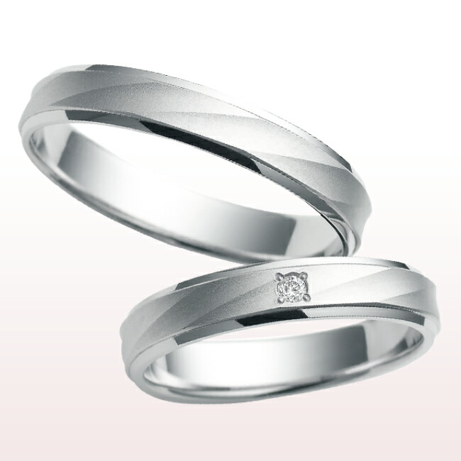 【nocur ノクル】マリッジリング プラチナ900 PT ダイヤモンド リング シチズン 結婚 男女 cn-957
