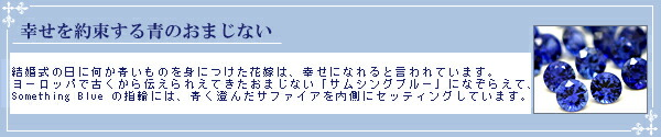 【サムシングブルー】マリッジリング プラチナ1000 PT サファイア 【1本画像右】sp-767