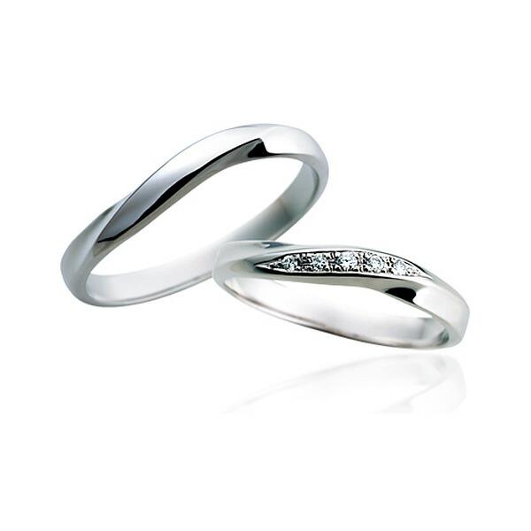 【サムシングブルー】マリッジリング プラチナPT ダイヤモンド 【1本画像下】sp-816