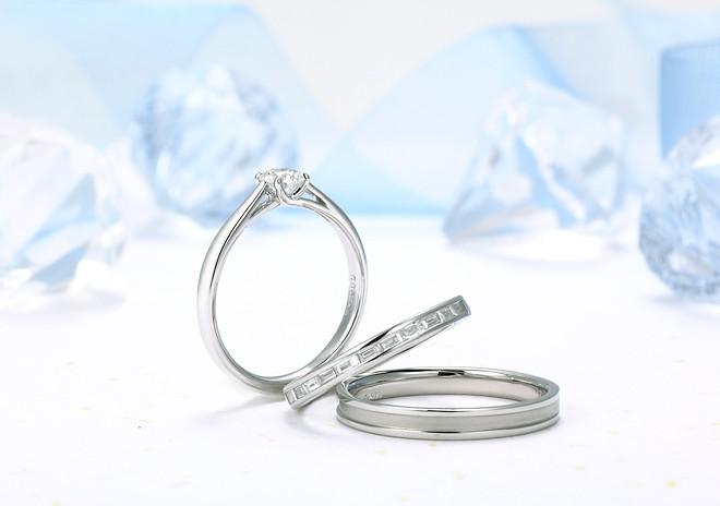 星の砂 HOSHI no SUNA Apollo(アポロ) メンズ マリッジリング 【1本画像下】ペアリング 結婚指輪 apollo02