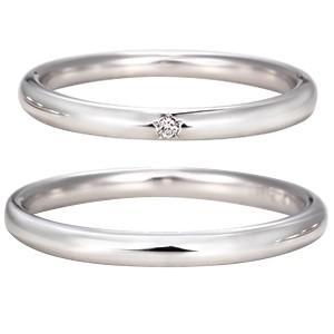 星の砂 HOSHI no SUNA Spica(スピカ) レディース ダイヤモンド マリッジリング 【1本画像上】ペアリング 結婚指輪 spica01