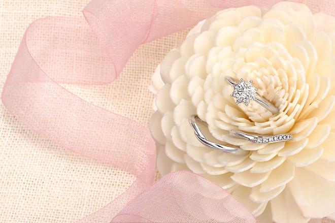 星の砂 HOSHI no SUNA Vesta(ヴェスタ) レディース ダイヤモンド マリッジリング 【1本画像上】ペアリング 結婚指輪 vesta01