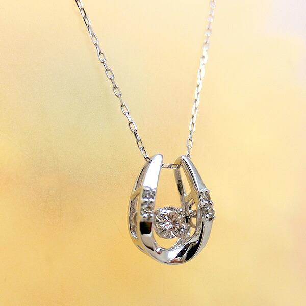 ダンシングストーン ダイヤモンド プラチナ ネックレス
