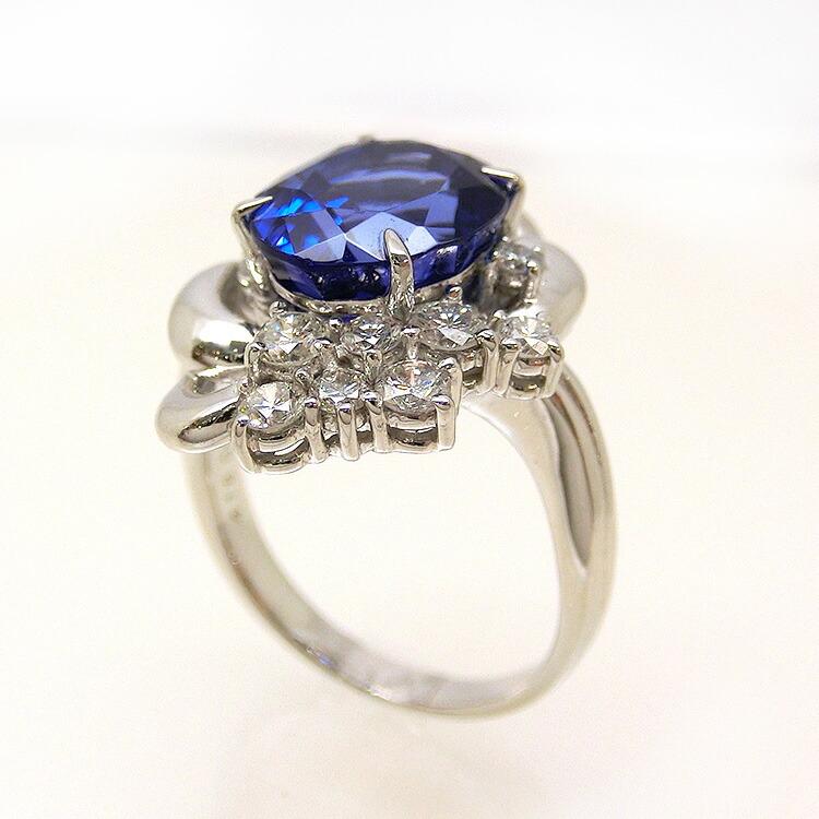 タンザナイト プラチナ リング 指輪