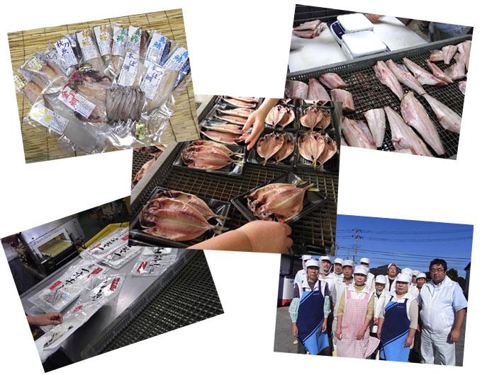 魚介専門店:五代目常造の商品はすべて自社工場で造っています。