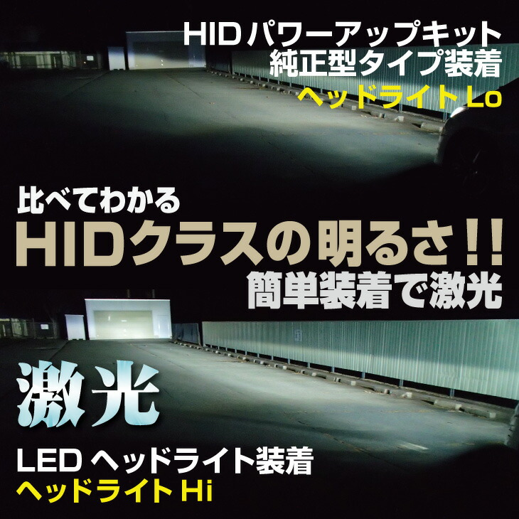 HIDとの比較 10110lmのLEDヘッドライト