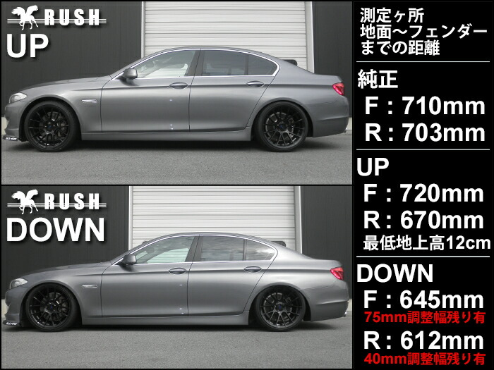RUSH車高調-F10 5シリーズ セダン