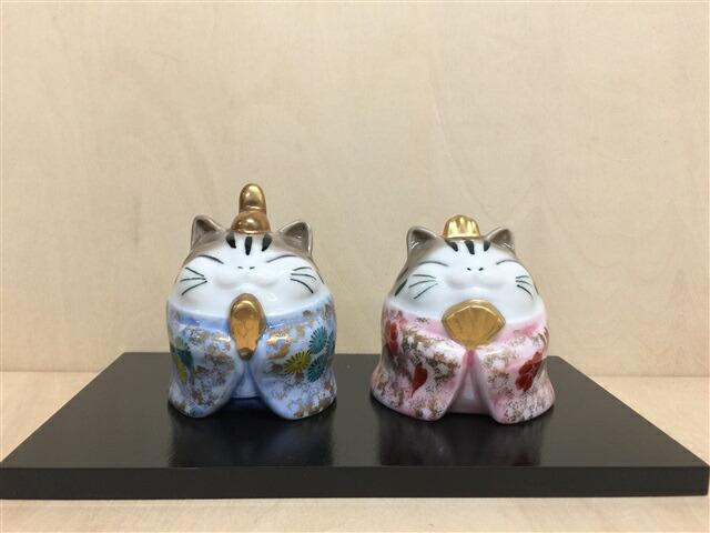 猫びな(木台付き)