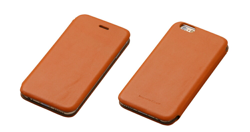 iPhone6用本皮レザーケース「MASK(マスク)」 Genuine Leather Cover MASK for iPhone 6 DCS-CIP6GLCA(キャメル)