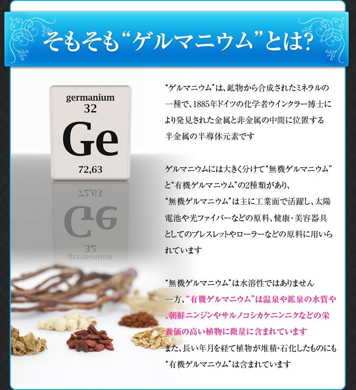そもそもゲルマニウムとは