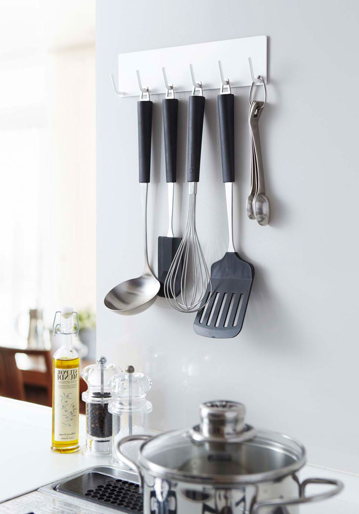 Yamazaki magnet kitchen tools hook plate white 2437 from JAPAN