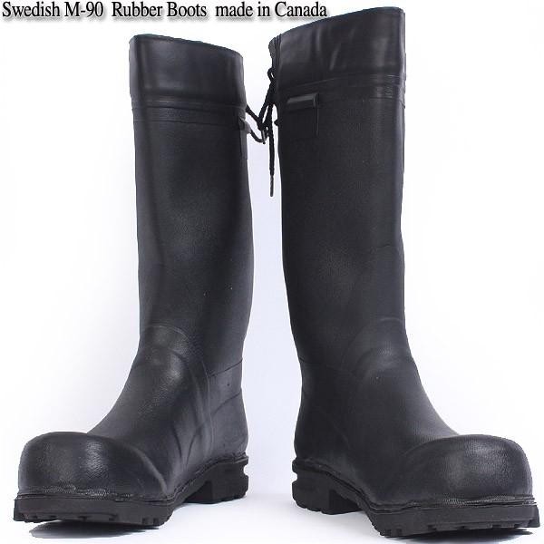 【楽天市場】【wip】実物 新品 スウェーデン軍m 90ラバーブーツ カナダ製優れ物の実用性の高いオシャレな長靴