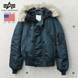 ALPHA INDUSTRIES アルファインダストリーズ MADE IN USA N-2B フライトジャケット AIR FORCE BLUE