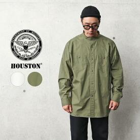 HOUSTON ヒューストン 40882 コットン ポプリン MEDICAL CARE ミリタリーシャツ