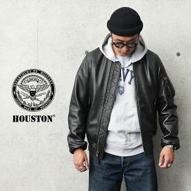 HOUSTON ヒューストン 8191 シープスキン レザー MA-1 フライトジャケット
