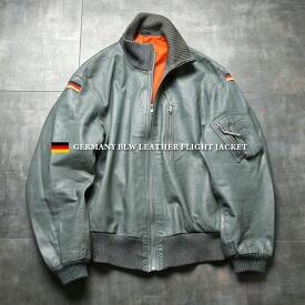 実物 USED ドイツ軍 BLW(ドイツ連邦空軍)レザー フライトジャケット