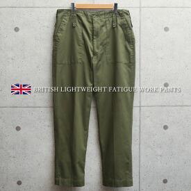 実物 USED イギリス軍 ミリタリー パンツ ライトウェイト ファティーグワークパンツ