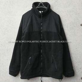 実物 USED 米軍 ECWCS POLARTEC(ポーラテック) フリースジャケット BLACK