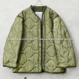 実物 新品 デッドストック 米軍 M-65 フィールドジャケット用ライナー フロントボタン無しタイプ
