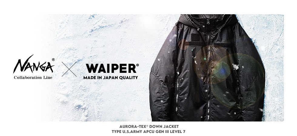 NANGA ナンガ WAIPER別注 AURORA-TEX ダウンジャケット TYPE U.S.ARMY APCU GEN III LEVEL 7 MADE IN JAPAN
