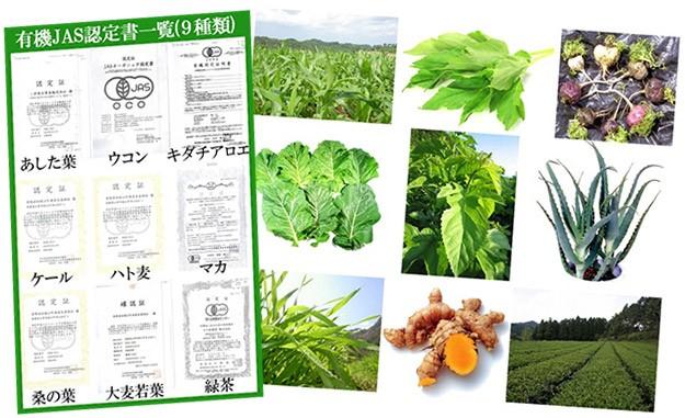 オーガニック原料9種類を濃縮配合