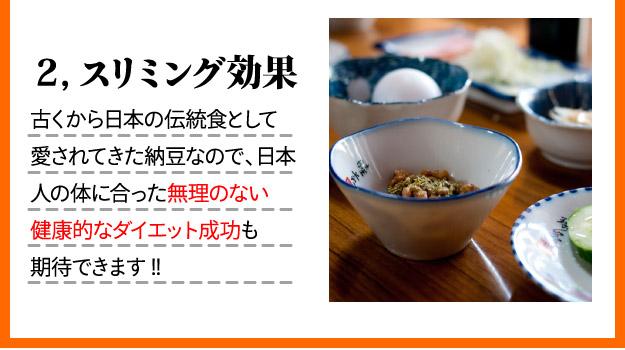 日本人の体に合った無理のない健康的なダイエット成功も期待できます