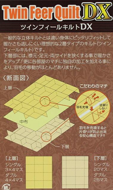 羽毛布団二層キルトの特徴