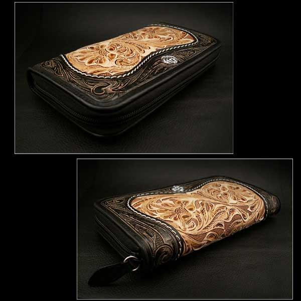 genuine,leather,wallet,purse,zip,around