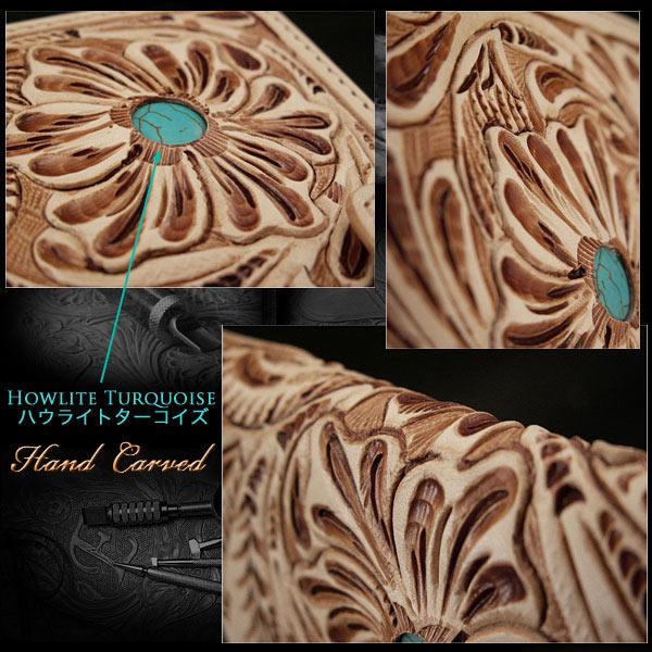 custom handmade carved leather iPhone 6 flip case wallet
