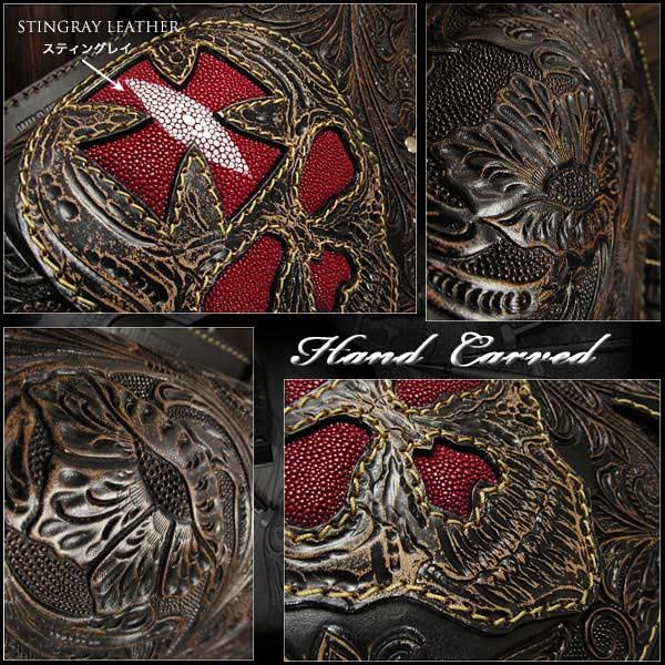 hand,carved,genuine,lather,Harley,saddlebag,for,sportster,forty-eight,custom