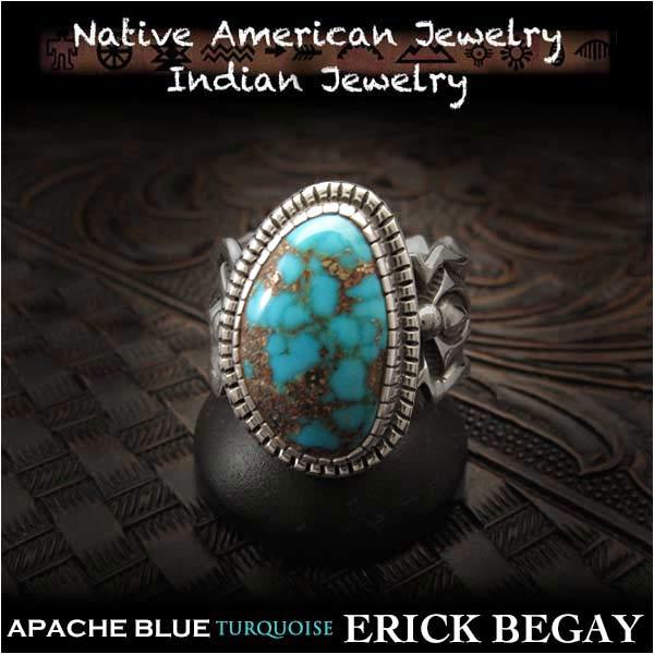 エリックビゲィ/erick/begay/リング/ring/USA/size/#15/apache/blue/turquoise/sterling/silver