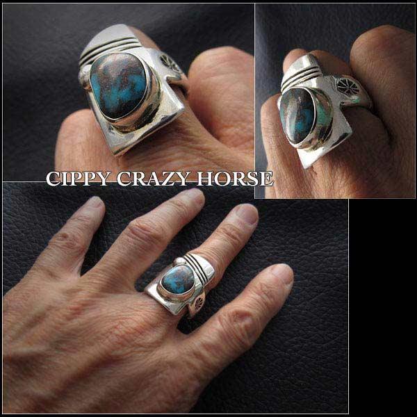 シッピー/クレイジー/ホース/Cippy Crazy Horse/リング/ring/apache/blue/turquoise/sterling/silver
